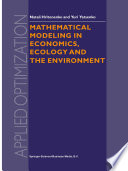 Mathematical Modeling in Economics  Ecology and the Environment Book