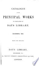 Catalogue of the principal works in circulation at Days library, December, 1883. [2 file copies, interleaved, the 1st with MS. additions].