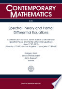 Spectral Theory And Partial Differential Equations