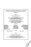 The East Tennessee Historical Society's Publications