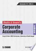 Corporate Accounting  CBCS NBU