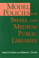Model Policies for Small and Medium Public Libraries Book