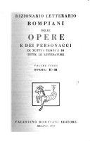 Dizionario letterario Bompiani delle opere e dei personaggi di tutti i tempi e di tutte le letterature