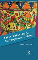 Dalit Politics in Contemporary India ebook