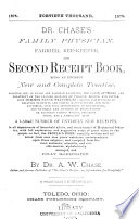 Dr  Chase s Family Physician  Farrier  Bee keeper  and Second Receipt Book