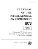 Yearbook of the International Law Commission 1978, Vol II, Part 1 Pdf/ePub eBook