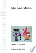 """""""Semantics"""" by John I. Saeed"""