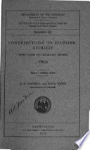 Contributions to Economic Geology (short Papers and Preliminary Reports)