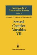 Several Complex Variables VII [Pdf/ePub] eBook