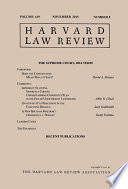 Harvard Law Review Volume 129 Number 1 November 2015