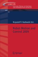 Robot Motion and Control 2009 [Pdf/ePub] eBook
