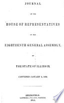 Journal of the House of Representatives of the General Assembly of the State of Illinois Book
