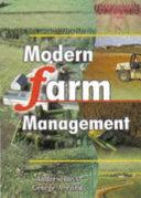 Modern Farm Management Book