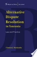 Alternative Dispute Resolution in Tanzania