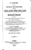 Nouveau Dictionnaire portatif Anglais-Français et Français-Anglais ... Deux tomes en un volume