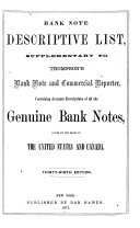 Bank Note Descriptive List
