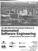 Ieee Acm International Conference On Automated Software Engineering Book PDF