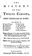 The History of the Twelve Caesars  First Emperors of Rome  Etc