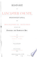 History Of Lancaster County Pennsylvania PDF