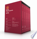 British Pharmacopoeia 2016 [print Edition]