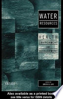Water Resources  : Health, Environment and Development