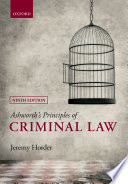 Ashworth's Principles of Criminal Law