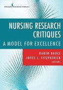 Nursing Research Critiques