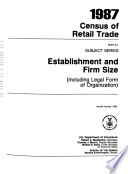 1987 Census Of Retail Trade