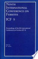 Ninth International Conference on Ferrites  ICF 9