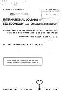 International Journal of Sex Economy and Orgone Research Book