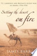 Setting the Desert on Fire Book