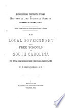 Local Government and Free Schools in South Carolina