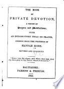 The Book of Private Devotion Book