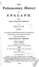 Cobbett S Parliamentary History Of England 1798 1800 Book