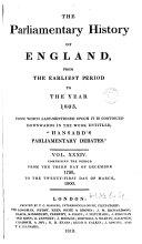 Cobbett's Parliamentary History of England: 1798-1800 ebook