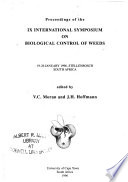 Proceedings of the IX International Symposium on Biological Control of Weeds