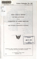 Annual Report on the Activities of the Committee on Armed Services for the     Congress