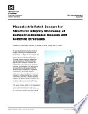 Piezoelectric Patch Sensors for Structural Integrity Monitoring of Composite Upgraded Masonry and Concrete Structures