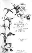 The Entomologist s Record and Journal of Variation Book