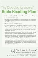 The Discipleship Journal Bible Reading Plan