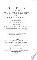 A Key to the Old Testament and Apocrypha Book PDF