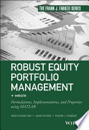 Robust Equity Portfolio Management   Website