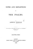 Notes and reflections on the Psalms