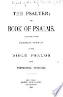The Psalter  Or  Book of Psalms Book