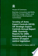 Scrutiny Of Arms Export Controls 2010