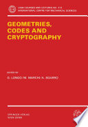 Geometries, Codes and Cryptography