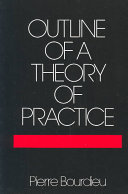 Pdf Outline of a Theory of Practice