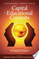 Contemporary Perspective On Capital In Educational Contexts Book PDF