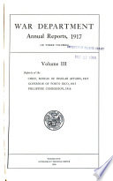 Annual Reports of the War Department Book