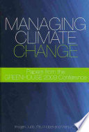 Managing Climate Change Book